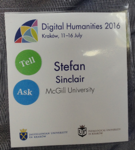 ACH Ask, Tell stickers at DH2016